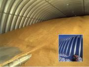 Зернохранилища арочные напольного типа - стальные амбары